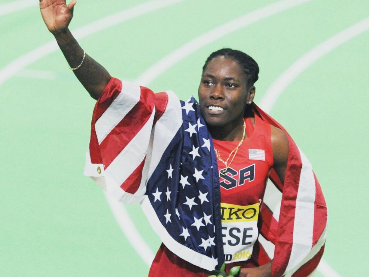 Gulfport's Brittany Reese reacts to Olympics postponement