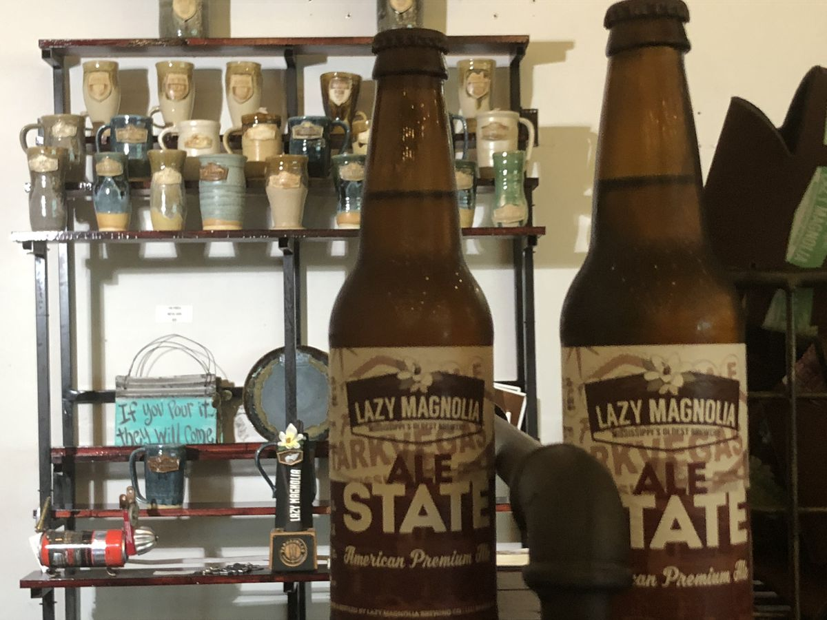 Lazy Magnolia offers craft brewed beer in a handcrafted mug