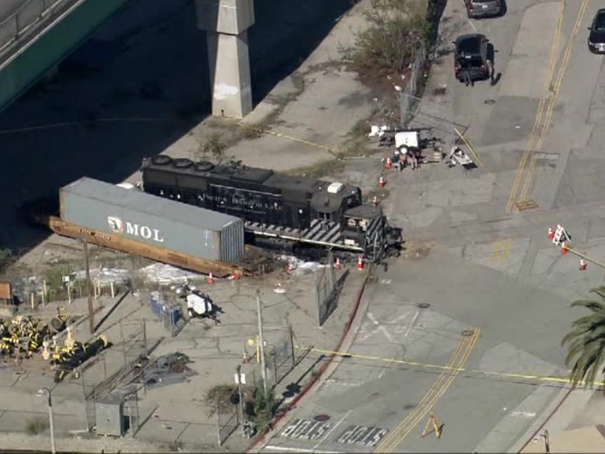 Feds: Man intentionally derailed LA train near hospital ship