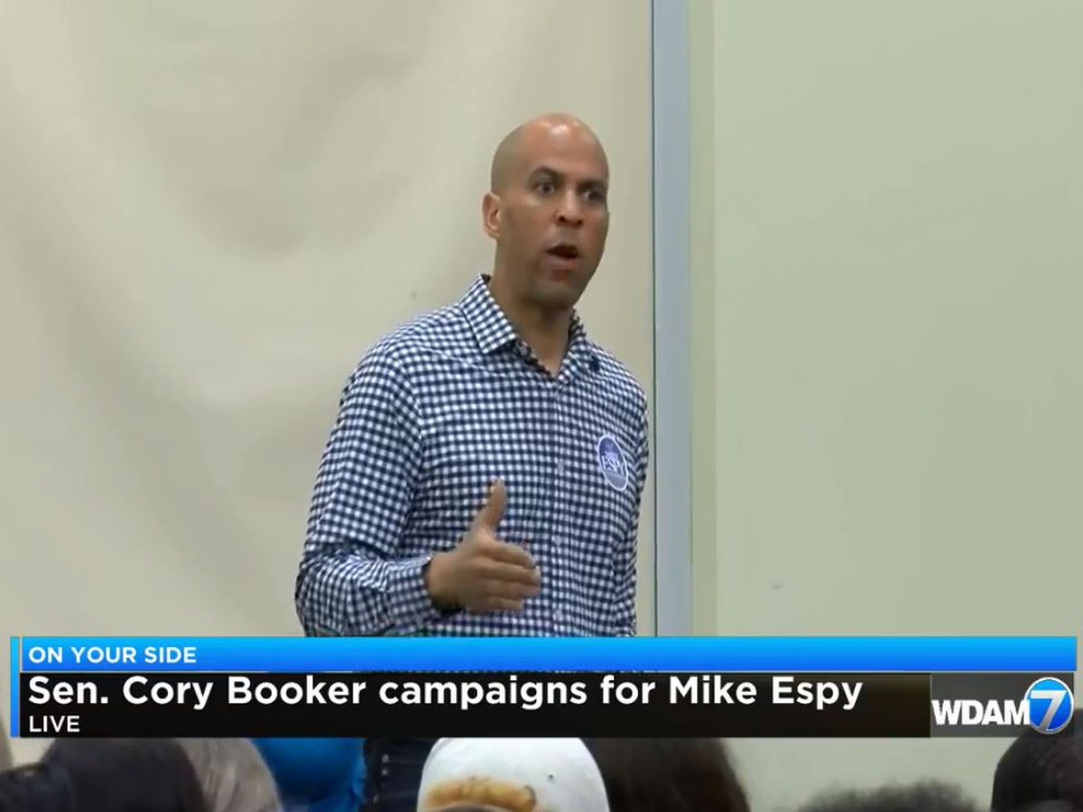 Sen. Cory Booker campaigns for Mike Espy in Hattiesburg
