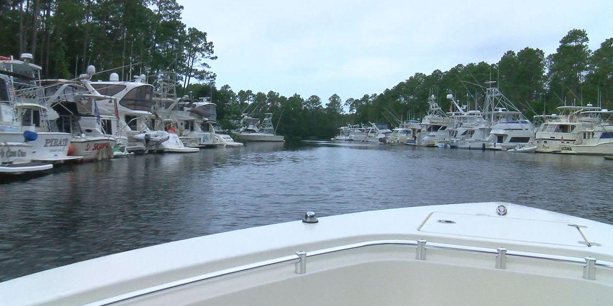 'Hurricane Hole' harbors big boats from storm threats