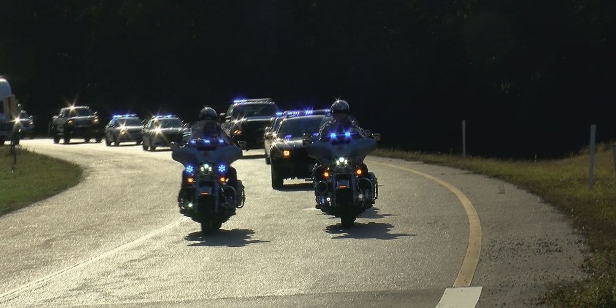 Families of fallen officers escorted to Biloxi