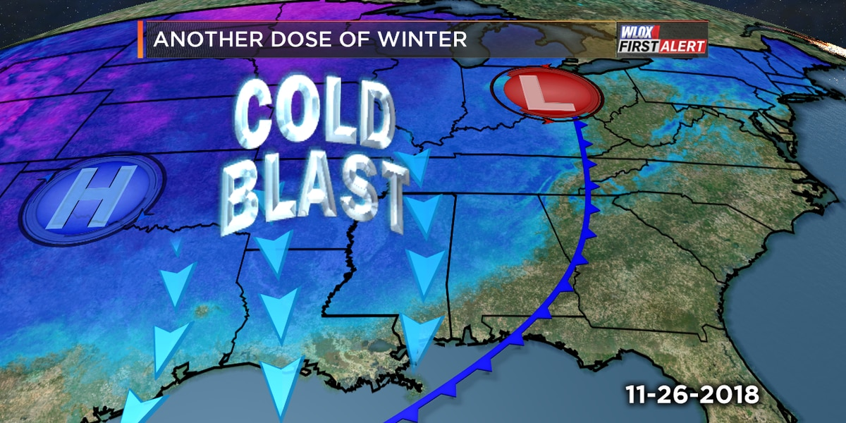 Another dose of winter strikes the coast