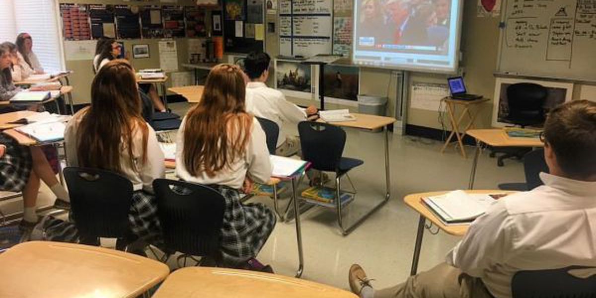 St. Patrick students tune in on Inauguration Day