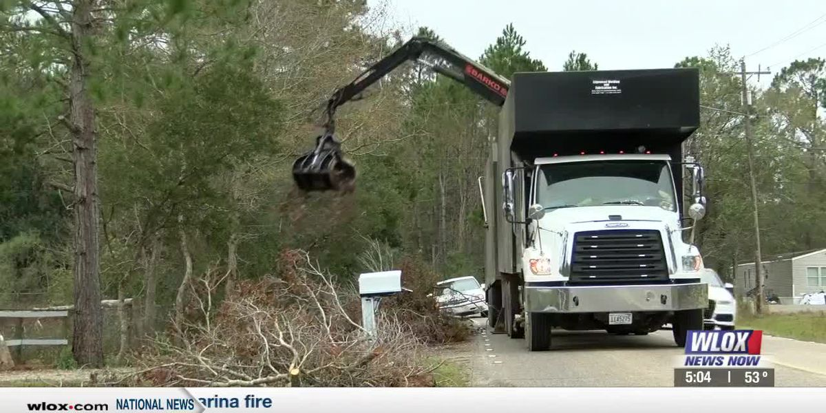 'Massive effort' underway to collect storm debris in Harrison County