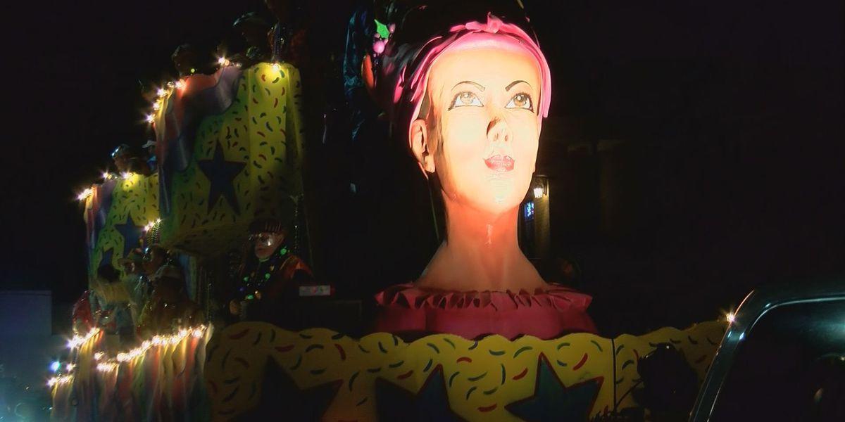 Krewe of Neptune parade lights up the night